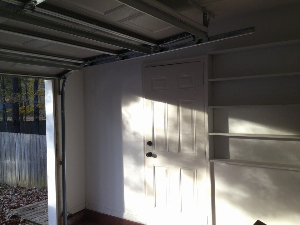 garage door and storage