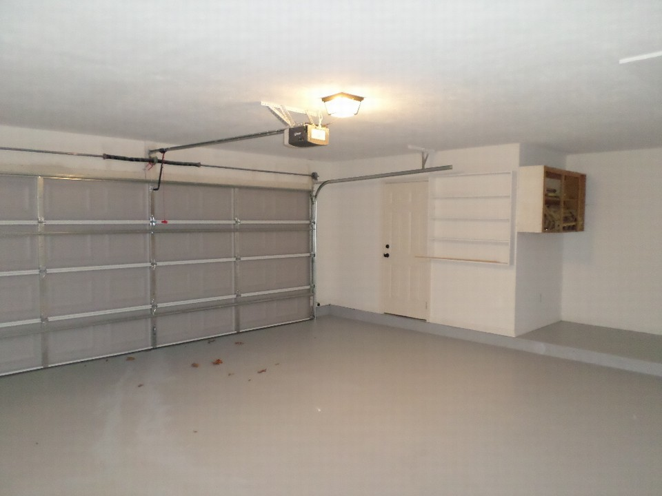 clean with storage and opener  opens to kitchen/dining